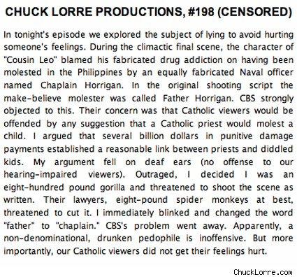 Chuck Lorre Vanity Card 198